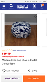 Medium bean bag chair digital camouflage new in Chicago, Illinois
