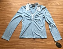 NEW MY MICHELLE Blue Long Sleeve Top. Size L. in Okinawa, Japan