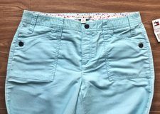 NEW Women's TOMMY HILFIGER Corduroy Turquoise Pants. Size 8. in Okinawa, Japan