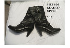 leather upper black boots in Great Lakes, Illinois