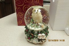 """Snowy Owl Water Globe"" By San Francisco Music Company - Plays ""Silver Bells"" in Kingwood, Texas"
