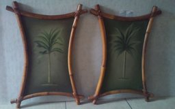 Bamboo Framed Palm Tree Pictures in Conroe, Texas