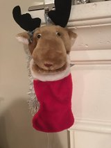 Moose xmas stocking  -12 inches of stocking in Naperville, Illinois