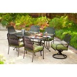 Hampton Bay Fall River 8 Piece Iron Patio Dining Set with UMBRELLA!! in Aurora, Illinois