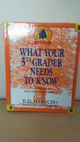 What Your 5th Grader Needs to Know Hardcover Book in Chicago, Illinois