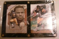 Steelers Jerome Bettis cased cards in Fort Campbell, Kentucky