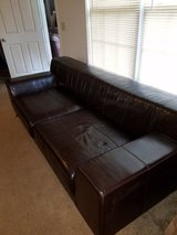 IKEA LEATHER LARGE LEATHER COUCH in Fort Rucker, Alabama