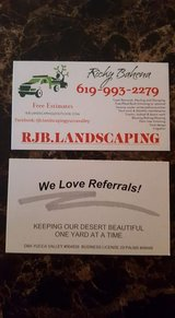 Landscape/irrigation/Haulaway services in Yucca Valley, California