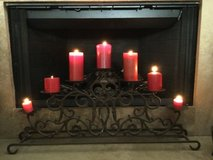 Iron candelabra/fireplace insert in Beaufort, South Carolina