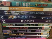 Work out dvds (lot of 10) in Fairfield, California