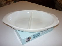 Vintage Pyrex White opal divided dish in Westmont, Illinois