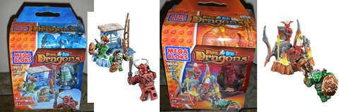 2002 Mega Bloks DRAGONS Dragon Tower 9896 Collector's Edition Gold Metal Box Set Like Legos / Lego in Kingwood, Texas