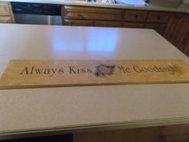 KISS ME GOODNIGHT WOODEN SAYING in Naperville, Illinois