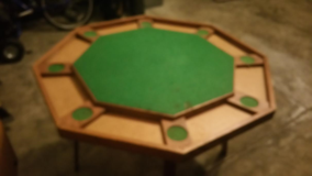 POKER TABLE WITH 3 SETS OF POKER CHIPS in Batavia, Illinois