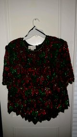 Sequined and Beaded Christmas Top in CyFair, Texas