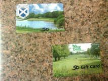 TWO $50 GOLF GIFT CARDS..MISTWOOD AND VILLAGE GREENS   ;) in Westmont, Illinois