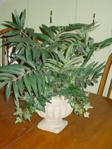 "19"" artificial plant in urn in Chicago, Illinois"