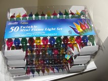 """NEW IN BOX """"CHRISTMAS"""" 50 TWINKLE MINI FLAME LIGHT SETS SET OF 3 in Camp Lejeune, North Carolina"""