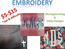 Embroidery monogramming and designs in Hinesville, Georgia
