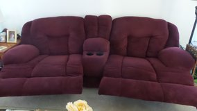 Double Recliner Couch with center console in Travis AFB, California