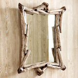 West elm wood mirror in Glendale Heights, Illinois