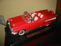 1957 Chevy convertible  1/18th diecast on mount. $15 in Morris, Illinois