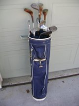 Golf Bag with woods/irons/new golf balls in Travis AFB, California