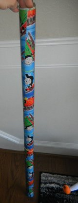 Thomas the Tank Engine Train Gift Wrap Wrapping Paper ~ About 80% left on roll in Houston, Texas