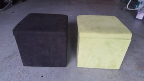 "Faux Suede Ultra Storage Ottoman Set 14"" x 14"" in Kingwood, Texas"