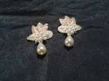 White Tear Drop Earrings (price each) in Eglin AFB, Florida