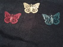 New - 3 Butterfly Necklace Charms in Eglin AFB, Florida