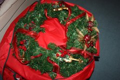 Christmas Wreath / with Red Storage Case in Ramstein, Germany