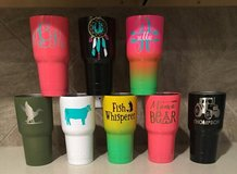 Cup Decals for Yeti or Others - Customized in Conroe, Texas
