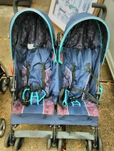 REDUCED TODAY***DELTA CHILDREN BLUE DOUBLE UMBRELLA STROLLER in Kingwood, Texas