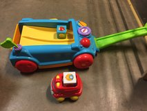 Fisher price roller blocks wagon & fire truck in Alamogordo, New Mexico