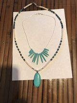 Turquoise and bead liquid silver necklaces in bookoo, US