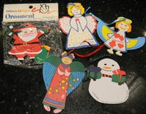 5 MD Anderson Cancer Center Children's Art Project Ornament Vintage Lot in Houston, Texas
