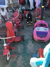 Push trikes, ride on buggy in Barstow, California