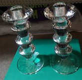 CRYSTAL CANDLESTICK HOLDERS x2 in Lakenheath, UK
