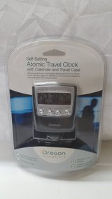 Oregon Scientific Atomic Travel Clock/Calendar/Travel Case in Kingwood, Texas