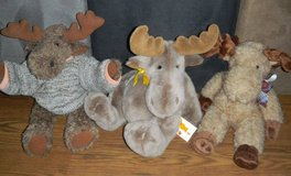 3 Mary Meyer Moose Plush Lot ~ Footloose + in Houston, Texas