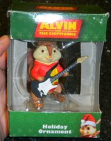 Alvin & The Chipmunks Christmas Holiday Ornament w/ His Guitar In Box in Kingwood, Texas