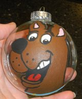 Scooby-Doo Hand Painted By Me Glass Christmas Ball Ornament in Kingwood, Texas