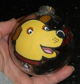 Hand Painted Martha Speaks Glass Christmas Ball Ornament in Kingwood, Texas