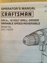 110v Craftsman Variable Speed Cordless Drill set in Ramstein, Germany