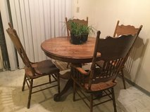 Oak table and chairs in Mountain Home, Idaho