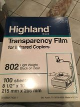 New Packs of Transparency Film in Wheaton, Illinois