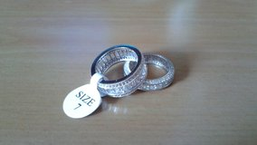 Size 7 High Quality Cubic Zirconia eternity bands in Joliet, Illinois