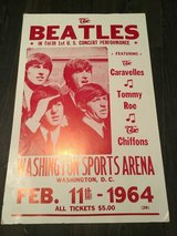 Beatles 1964 Poster Original Collector 1st Printing in Byron, Georgia