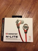 Monster Nlite in-ear headphones red in Okinawa, Japan